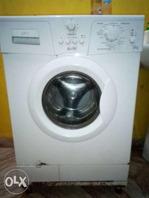 IFB White Elite Front Load Washing Machine 5KG.