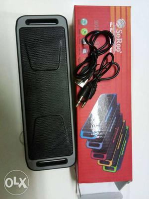 Portable Bluetooth Speaker with Usb, Memory card, Aux, FM