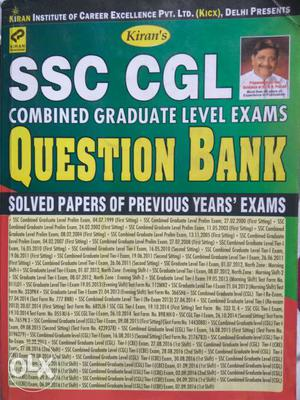 SSC CGL Previous year solved papers Kiran pub.