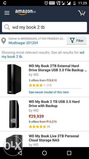 WD 2TB convertable hard disk(can be used as internal and