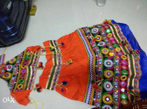 Brand new Orange, Green And Yellow Ghagra Choli