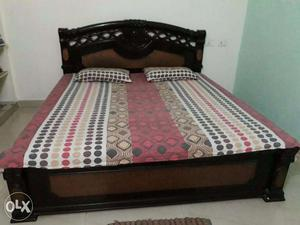 Double Bed 6*6 Feet with Two Curl On Mattresses (3*6) feet