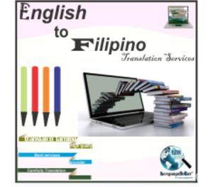 High Quality Professional Filipino to English Translation