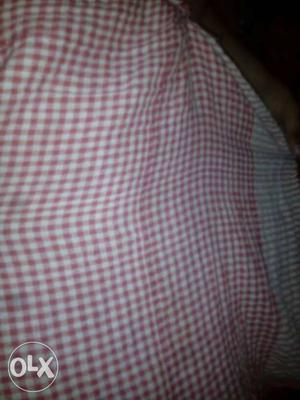 Red And White Checkered Textile