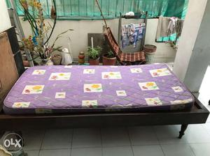 Single Bed with mattress- made of pure teak wood