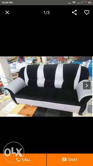 White And Black Fabric Sofa Screenshot