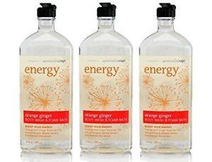 Lot of 3 Bath & Body Works Aromatherapy Orange Ginger Body