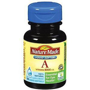 Nature Made Vitamin A,  IU, 100 Liquid Softgels