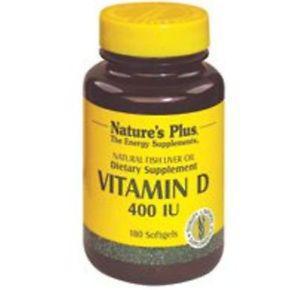 Nature's Plus Vitamin D -- 400 IU - 180 Softgels