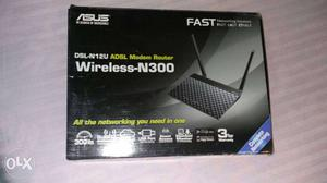 Asus DSL-N12U ADSL Wifi Router Wireless-N300 Box