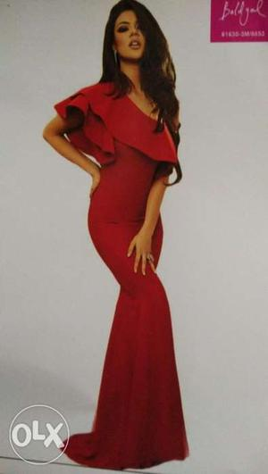 """Available only 'Jaipur """" one shoulder evening gown Size-M"""