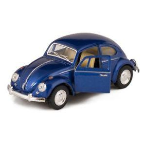 Blue  Classic Die Cast Volkwagen Beetle Toy with Pull