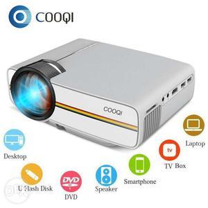 COOQI Projector, Mini LED Portable Pocket