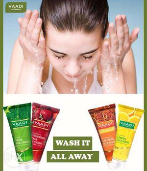 Face wash for all skin, 60ml with 3yrs self life,