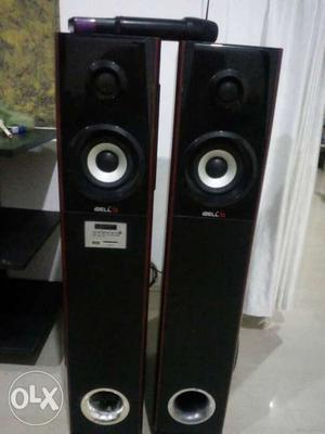 I-bell Two Black Tower Speakers i bell
