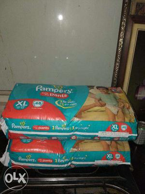 Diapers XL Size Pant Style Pampers Brand 2 Packs of 48