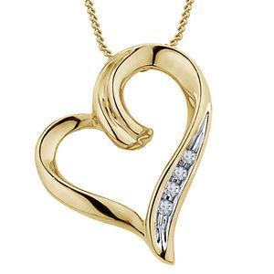 Riva jewels 925 Silver Two Tone White CZ Beautiful Heart