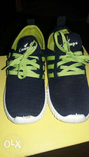 Champs sports wear Pair Of Navy blue And Green Low Shoes