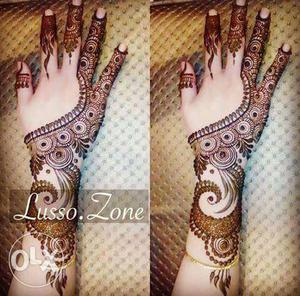 Henna Mehendi Designer for Hands (price depends