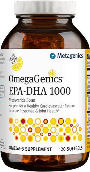 Metagenics OmegaGenics EPA-DHA  Dietary Supplement, 120