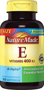 Nature Made Vitamin E dl-Alpha, 400IU, 300 Softgels
