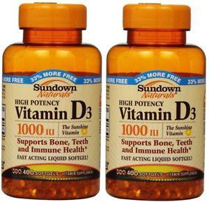 Sundown Naturals High Potency Vitamin D IU, 400