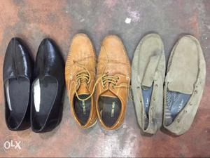 Three Pairs Of Dress Shoes