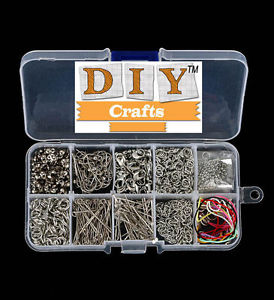 Jewelry Making Tool Kits Head-Pins Chain Beads-DIY Crafts