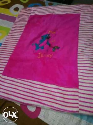 Kids clothes beautiful pink blanket for new born