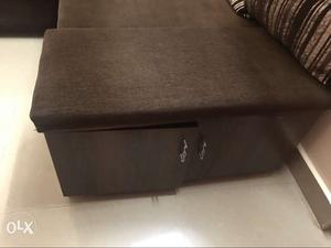 Shoe rack with cushion seating