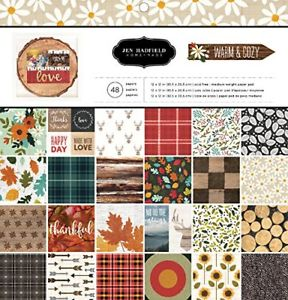 American Crafts Pebbles Patterned PB JH Warm & Cozy Paper