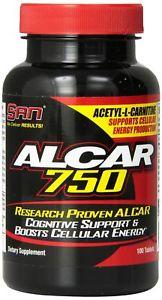 SAN Alcar 750 Acetyl-L-Carni tine, 100 Count