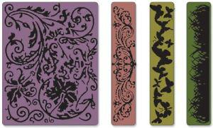 Sizzix Texture Fades Embossing Folders 4PK - Springtime