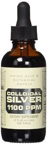 Amino Acid and Botanical Supply Colloidal Silver,  PPM,