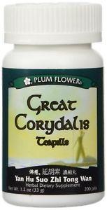 Great Corydalis Teapills (Yan Hu Suo Wan), 200 ct, Plum