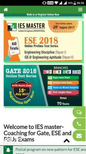 IES Master GATE Online Test Series