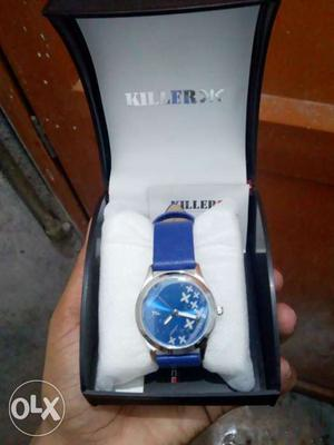 Killer branded blue watch absolutely new product