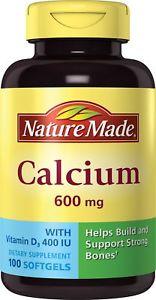 Nature Made Calcium 600 mg/400 IU, Vitamin D Softgels