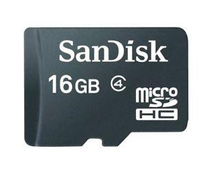 Sandisk micro SD 16GB Memory Card Class 4