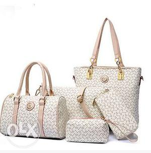 Imported PU Leather 5 in 1 bag set.