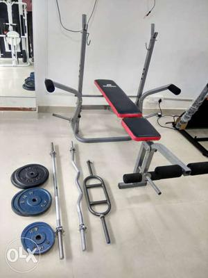 Multi Bench Press 6 in 1, With Rod & Plate Total Set
