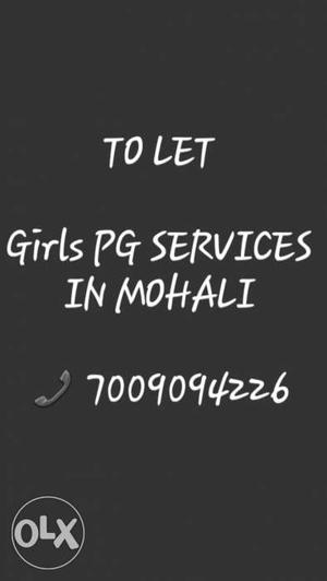 PG for Girls. Excellent food quality. Mohali.