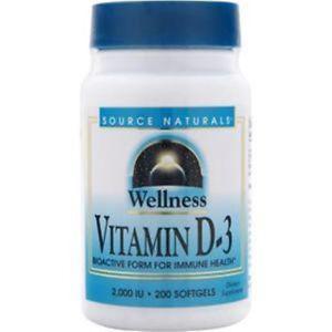 Source Naturals Wellness Vitamin D-IU) 200 sgels