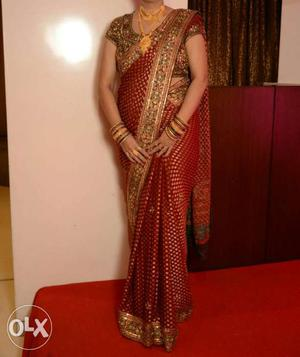 Party, wedding wear saree with readymade blouse