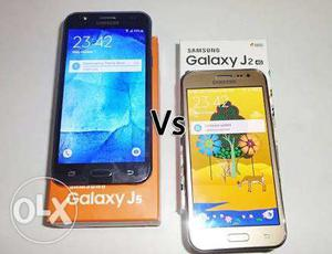 Samsung J2 (11 months old) and J5 (2years old)