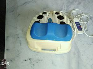 White And Blue Electric Foot Massager