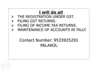 I want part time accountant job