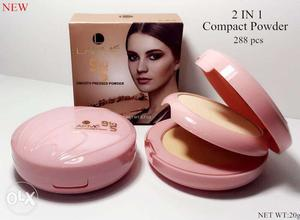 Two Pink Compact Powders With Box