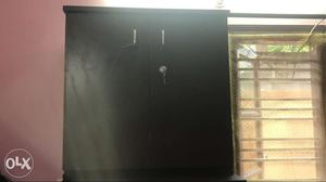 2 door shoe rack with three racks inside(Like New)