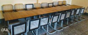 A set of office furniture (19 chairs & 4 tables